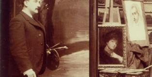 Ricard Urgell al seu taller (detall)