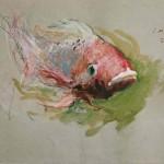 TRANSMUTACION .Acuarela y lápices color .2002