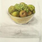 Frutas verdes, 2010. Oli sobre taula, 72 x 60 cm