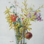 Florero de Otoño, 2010. Oli sobre taula, 70 x 50 cm