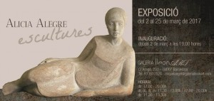 Alícia Alegre, escultura